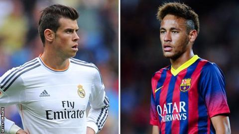 Gareth Bale and Neymar