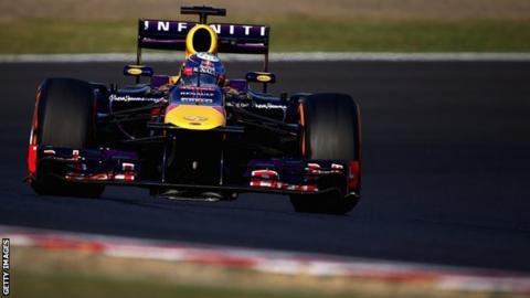 Sebastian Vettel at Suzuka