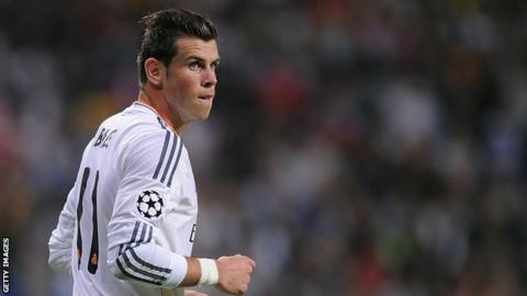 Real Madrid forward Gareth Bale