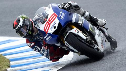 Jorge Lorenzo claims pole position for the Japanese MotoGP at Twin Ring Motegi.