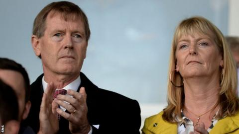 Former Rangers director Dave King at New Bayview