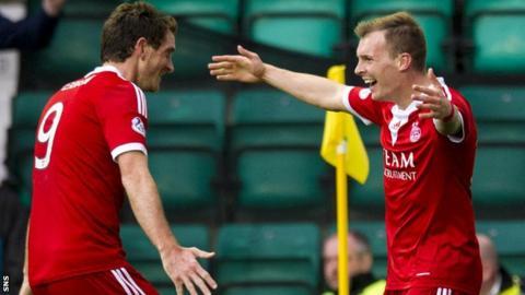 Aberdeen's Scott Vernon and Gregg Wylde