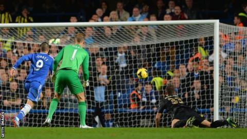 Fernando Torres scores Chelsea's winner against Manchester City