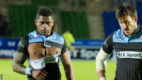 Niko Matawalu (left) after a bruising defeat by Munster
