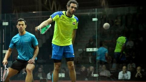 Ramy Ashour (right) and Fares Dessouki