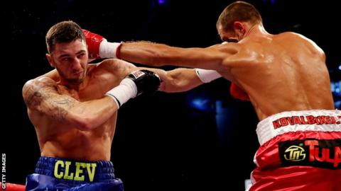 Nathan Cleverly during his loss to Sergey Kovalev