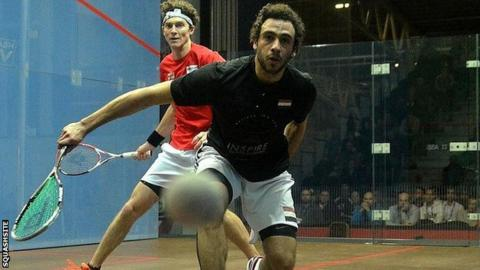 Ramy Ashour (right) and Cameron Pilley