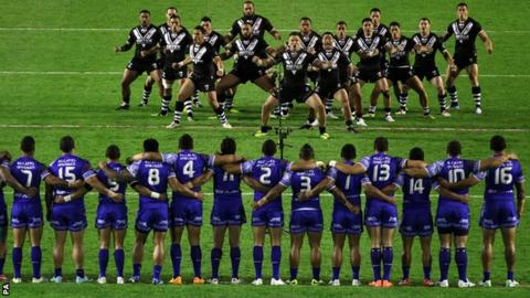 New Zealand perform the Haka against Samoa