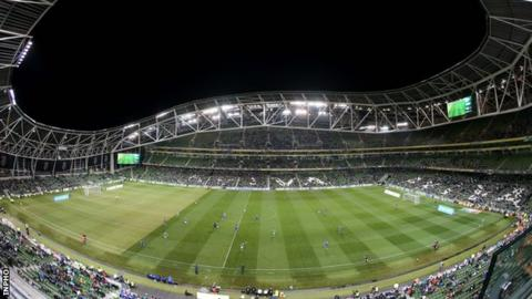 The Aviva Stadium will stage a friendly between Republic of Ireland and Latvia on 15 November