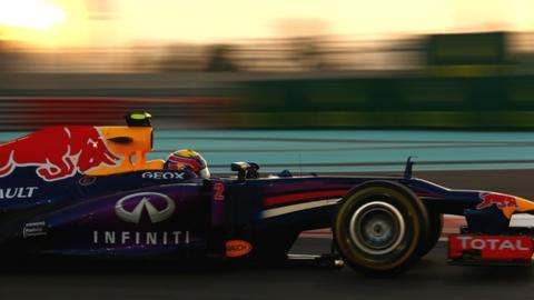 Red Bull Racing's Mark Webber claims pole position for the Abu Dhabi Grand Prix at Yas Marina
