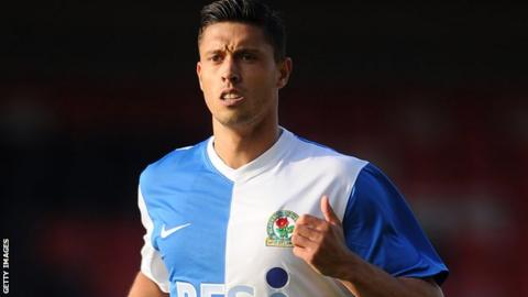 Blackburn's Jason Lowe, who scored his first goal for the club