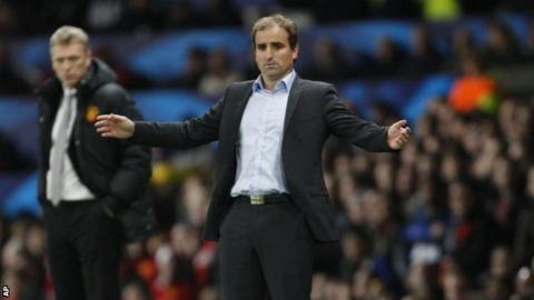 Real Sociedad's coach Jagoba Arrasate
