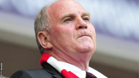 Bayern Munich's Uli Hoeness