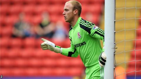 Middlesbrough goalkeeper Jason Steele