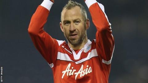 QPR midfielder Shaun Derry