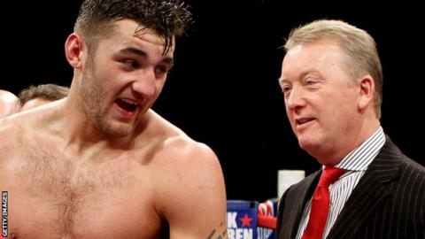 Nathan Cleverly with Frank Warren