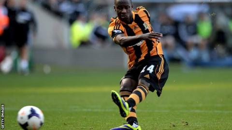 Hull forward Sone Aluko