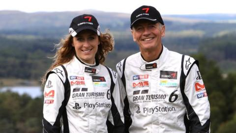 Amy Williams and Tony Jardine
