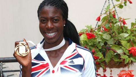 Athlete Christine Ohuruogu with her 2013 World Championship 400m gold