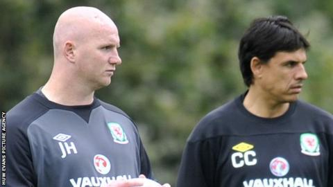 John Hartson with Chris Coleman