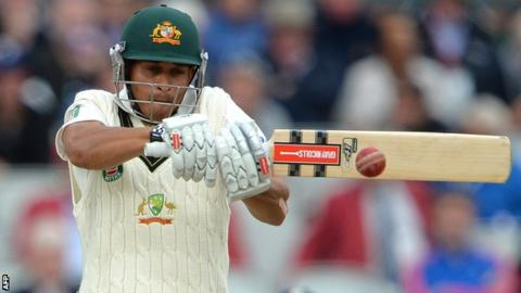 Usman Khawaja in action during last summer's Ashes series in England