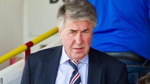 Former Rangers chairman Malcolm Murray