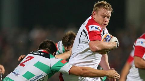 Tom Court in action for Ulster against Treviso in the Pro12 in September