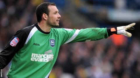 Marton Fulop playing for Ipswich