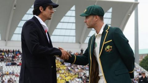 Alastair Cook and Michael Clarke