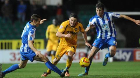 Connor Washington scored his seventh goal of the season for Newport County in their 2-0 win over Hartlepool in League Two.