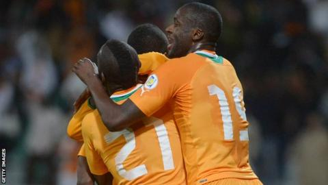 Ivory Coast celebrate reaching World Cup