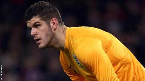 Fraser Forster makes his England debut