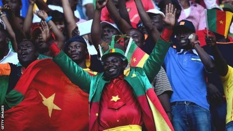 Joyous Cameroonian fans