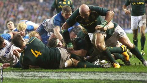 South Africa dominate Scotland