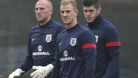 John Ruddy, Joe Hart and Fraser Forster