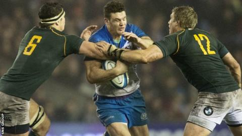Scotland lost 28-0 to South Africa