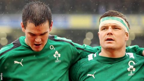 Jonathan Sexton and Brian O'Driscoll