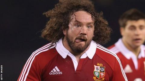 Adam Jones playing for the Lions