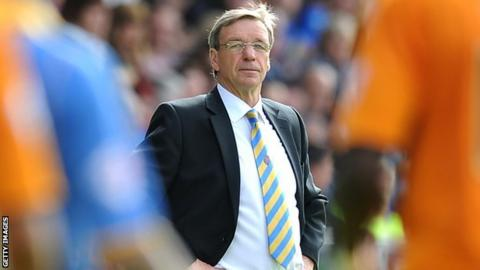 Shrewsbury Town manager Graham Turner watches this season's meeting with his former club Wolves