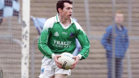 Raymond Johnston playing for Fermanagh
