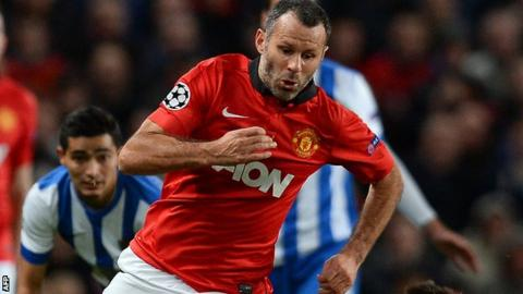 Ryan Giggs in action for Manchester United