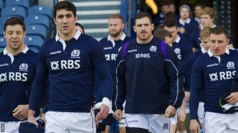 Scotland at their final training session