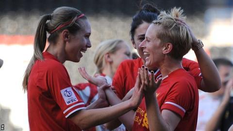 Liverpool striker Natasha Dowie
