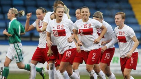 Poland proved too strong for Northern Ireland's women in the World Cup qualifier at Mourneview Park