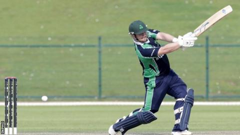 Paul Stirling scored an impressive 77 for Ireland