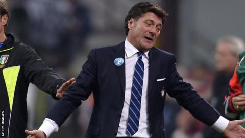 Inter Milan manager Walter Mazzarri