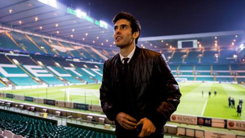 AC Milan midfielder Kaka at Celtic Park