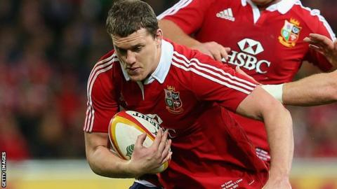 Ian Evans playing for the Lions in Australia