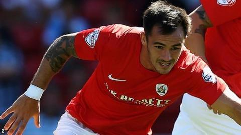 Barnsley striker Chris Dagnall