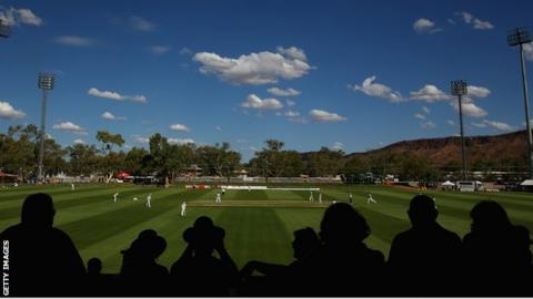 Day one of the tour match between the Chairman's XI and England at Traeger Park on November 29, 2013 in Alice Springs, Australia.